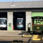 Arrivée 301 ACCIM avec trams Grenoble
