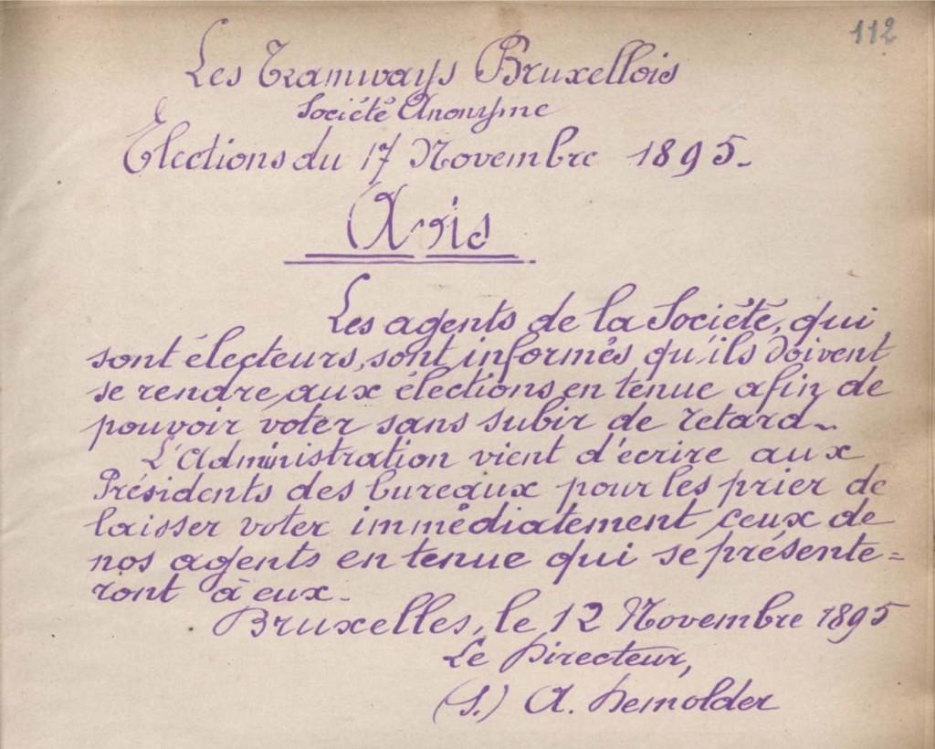 Avis (12 novembre 1895)