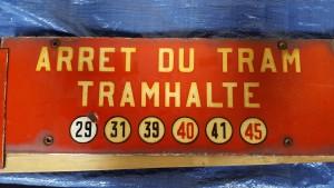 Plaque d'arrêt - avenue de Tervuren