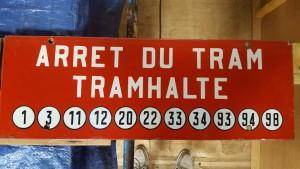 Plaque d'arrêt - Place du Trône