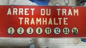 Plaque d'arrêt - rue Royale