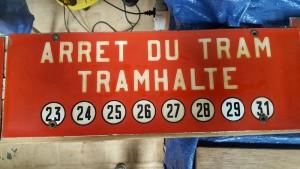 Plaque d'arrêt - rue de la Loi