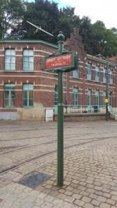 """Plaque """"Arrêt du tram"""""""