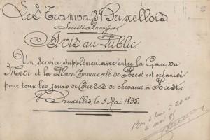 Avis au Public 03 mai 1895