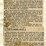 Revue de Presse (1er novembre 1929)