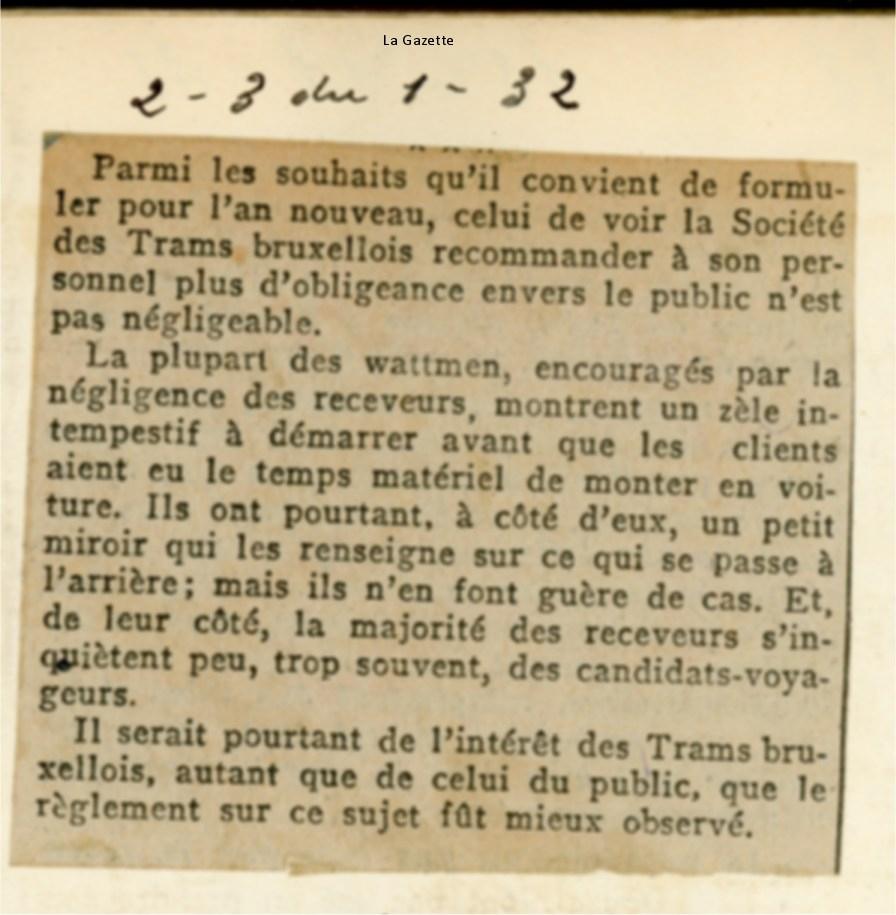 Revue de Presse (2 janvier 1932)