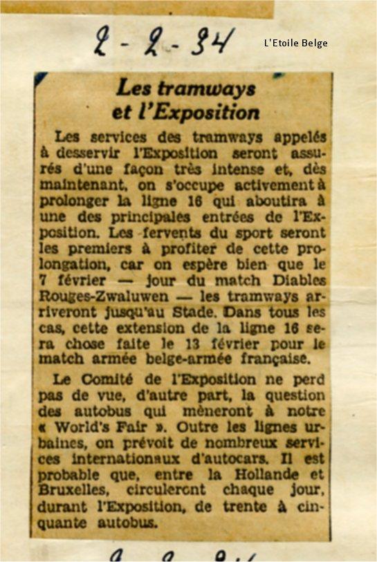 Revue de Presse (02/02/1934)