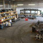 Motrice 984 en rénovation : vue générale du chantier