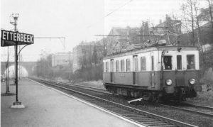 Chemin de fer Bruxelles - Tervuren, gare Etterbeek. Photo Dedoncker.
