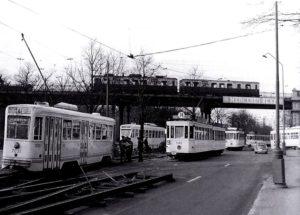 Chemin de fer Bruxelles - Tervuren. Pont de l'avenue de Tervuren.