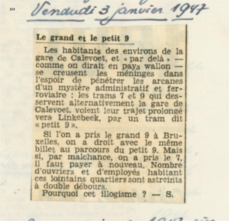 La Dernière Heure - 03/01/1947 (Collection MTUB)