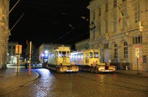 Motrices SNCV type N et standard, place Royale, 150 ans du tram. 24.04.2019 © L. Koenot