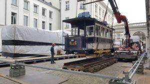 Motrice 415, place Royale, 150 ans du tram. 16.04.2019 © L. Koenot