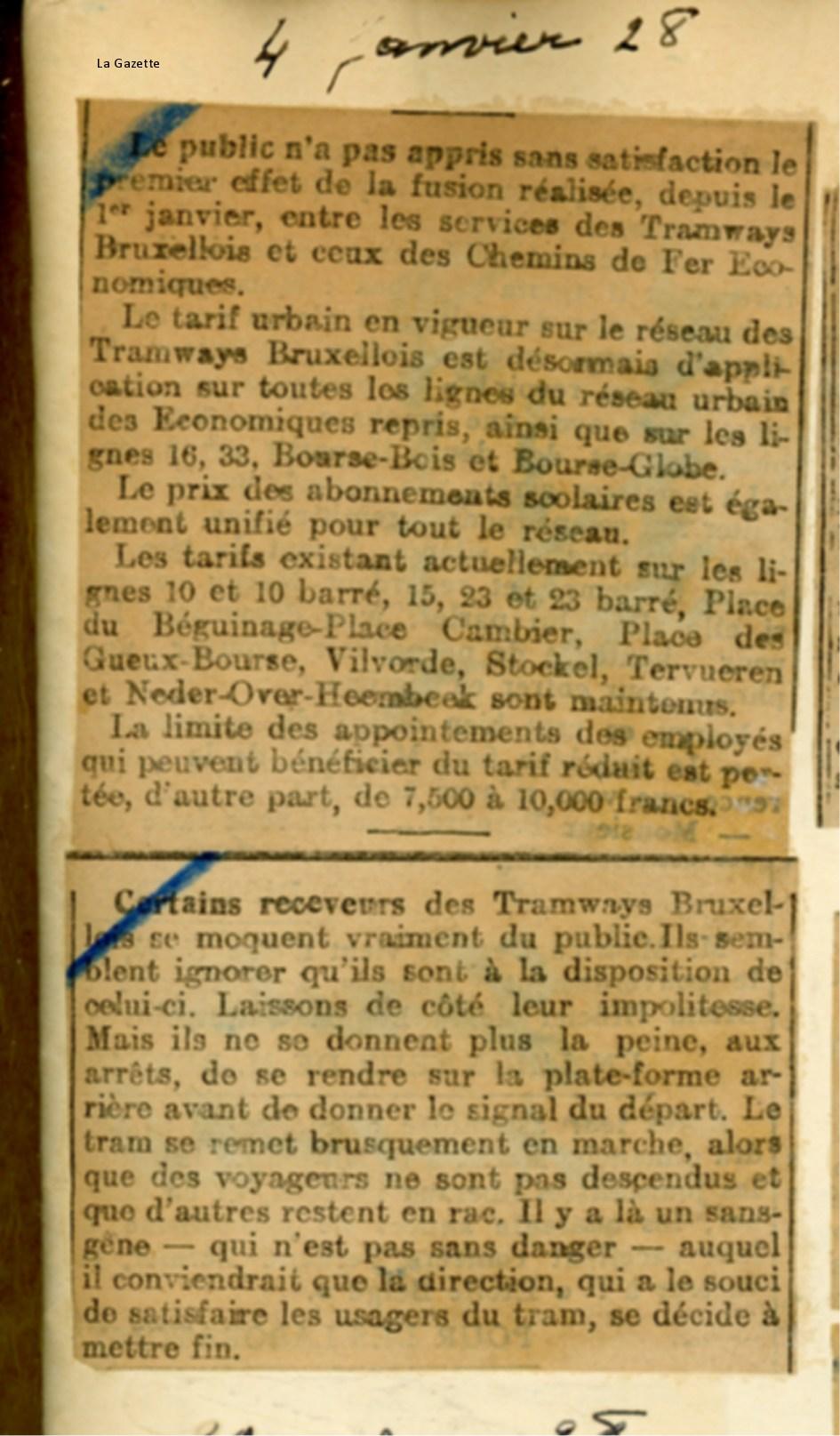 La Gazette - 04/01/1928