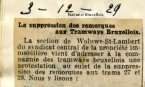 National Bruxellois - 03/12/1929