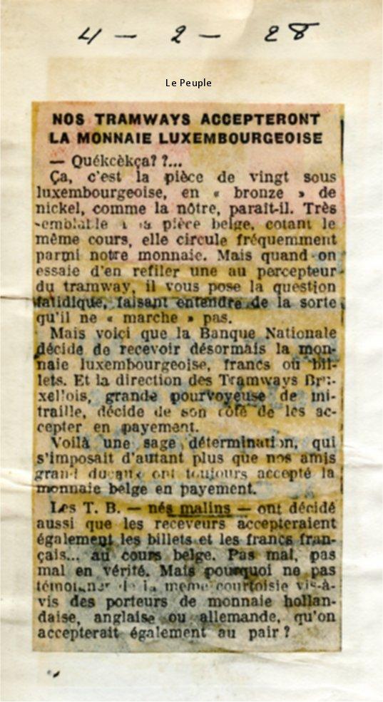 Le Peuple - 04/02/1928