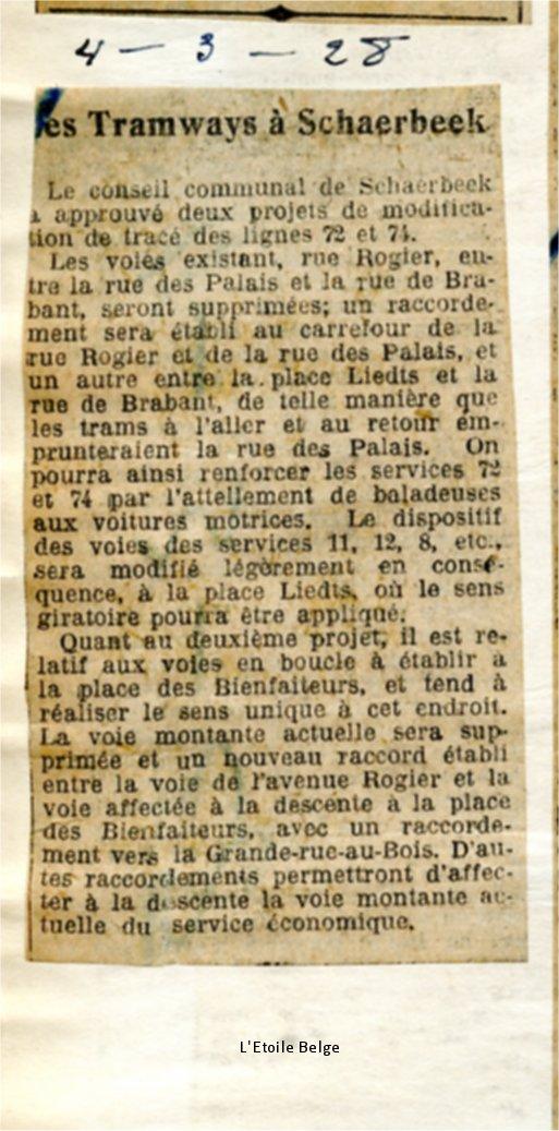 L'Etoile Belge - 04/03/1928