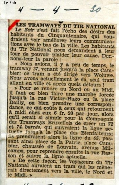 Le Soir - 04/04/1930