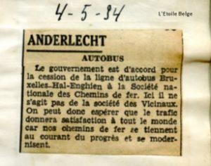 L'Etoile Belge - 04/05/1934