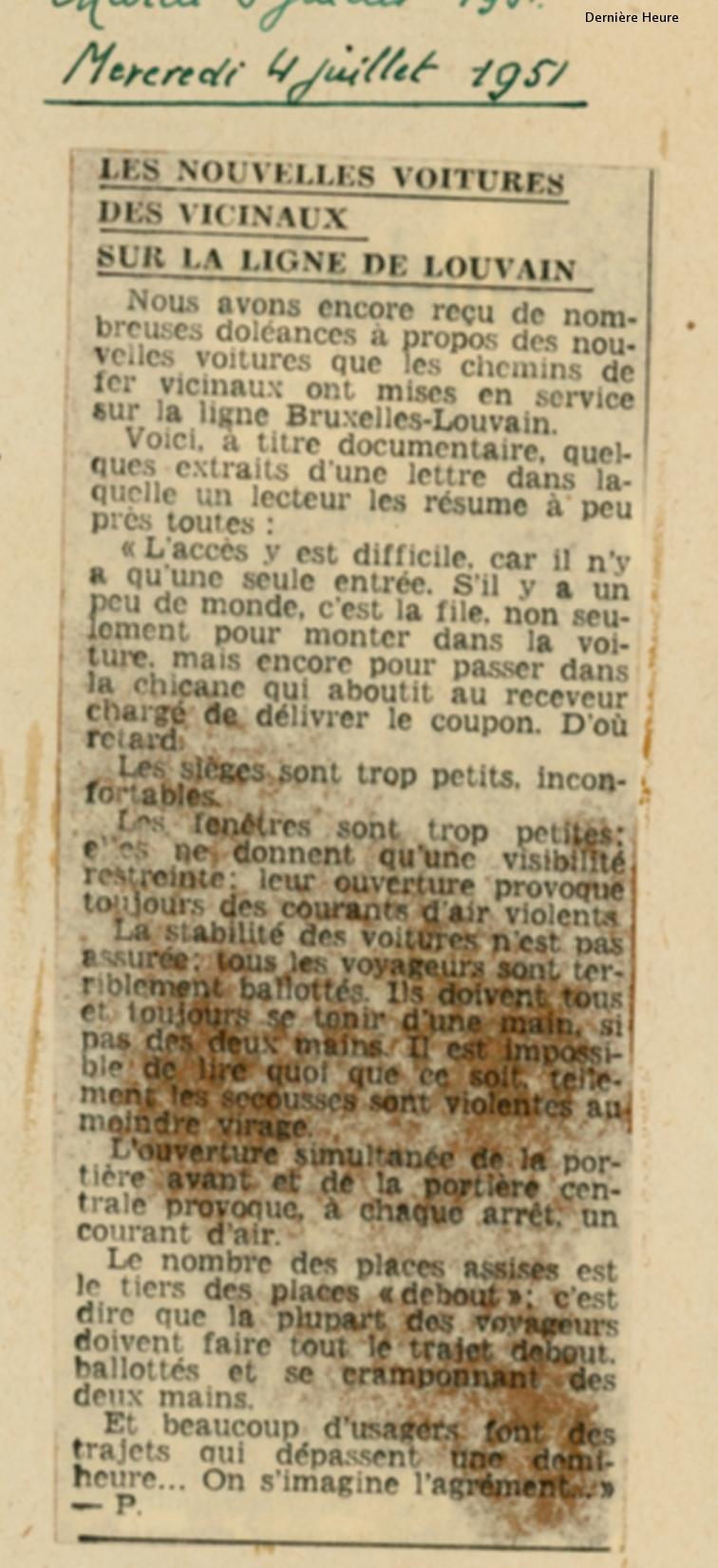 La Dernière Heure - 04/07/1951