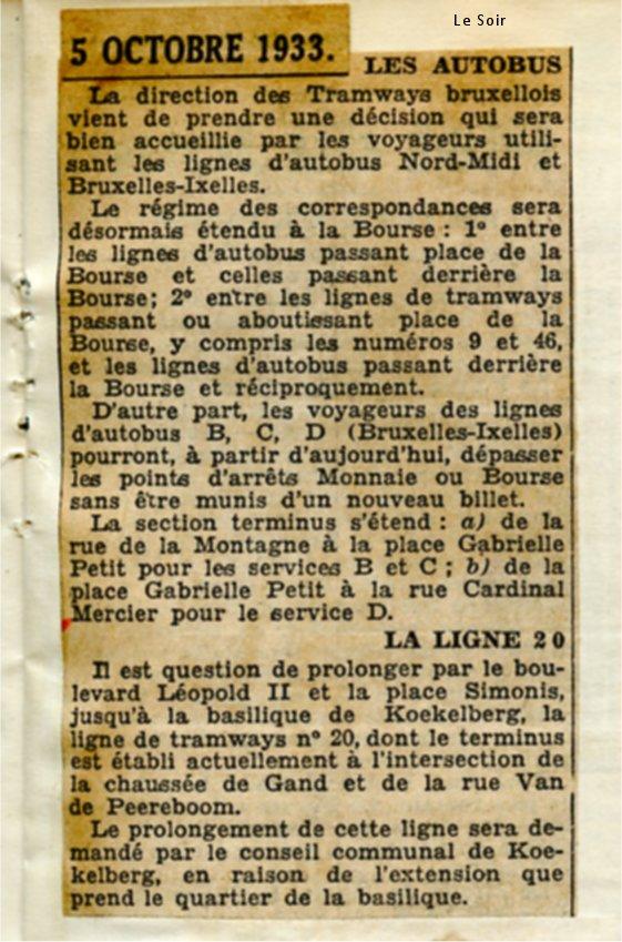 Le Soir 05/10/1933